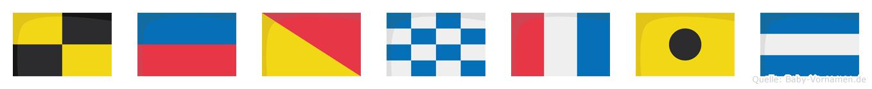 Leontij im Flaggenalphabet