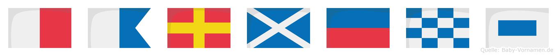 Harmens im Flaggenalphabet