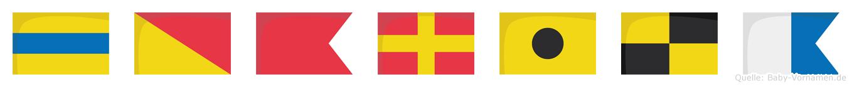 Dobrila im Flaggenalphabet