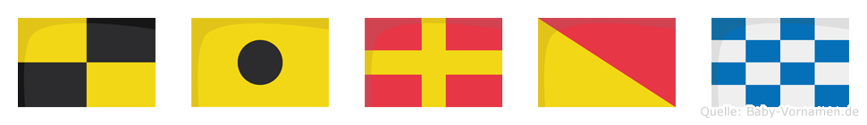 Liron im Flaggenalphabet