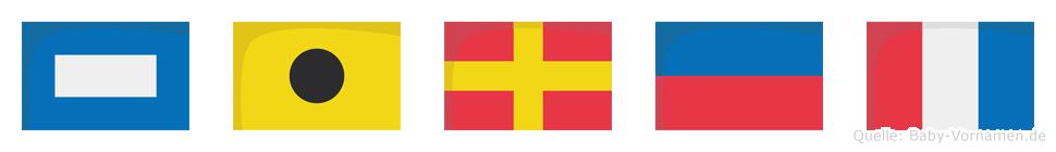 Piret im Flaggenalphabet