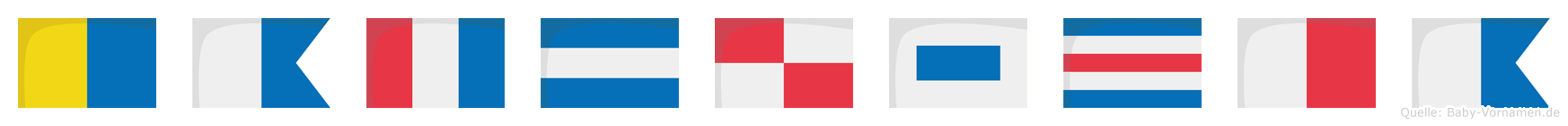 Katjuscha im Flaggenalphabet