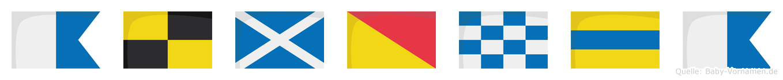 Almonda im Flaggenalphabet