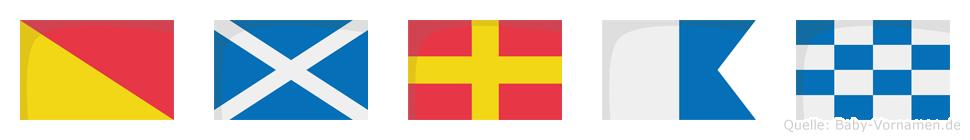 Omran im Flaggenalphabet