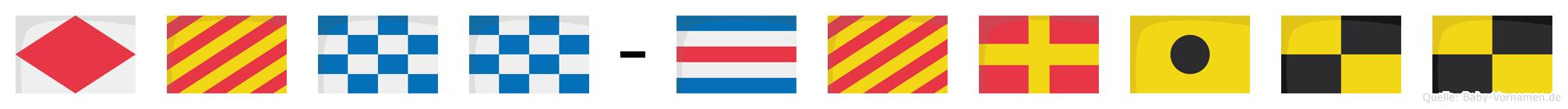 Fynn-Cyrill im Flaggenalphabet