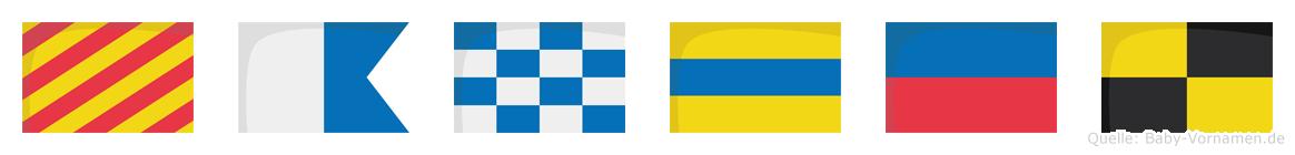 Yandel im Flaggenalphabet
