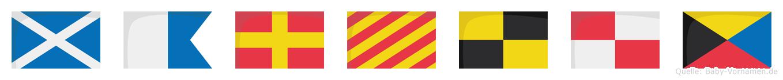 Maryluz im Flaggenalphabet