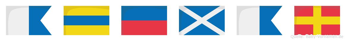 Ademar im Flaggenalphabet