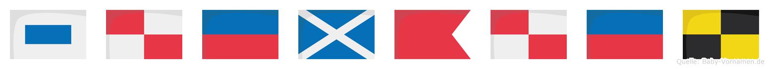 Sümbül im Flaggenalphabet