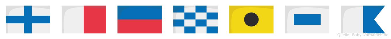 Xhenisa im Flaggenalphabet
