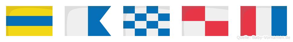 Danut im Flaggenalphabet