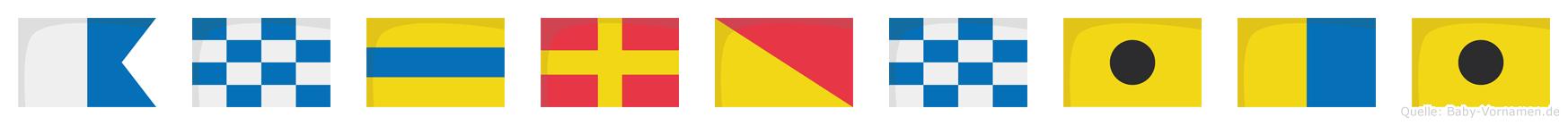 Androniki im Flaggenalphabet