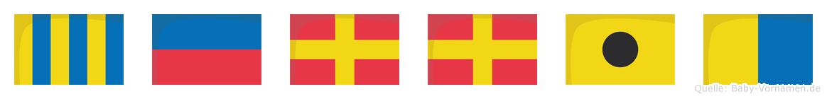 Gerrik im Flaggenalphabet