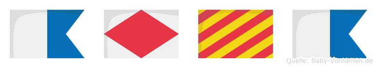 Afya im Flaggenalphabet