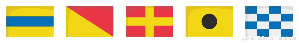 Dorin im Flaggenalphabet