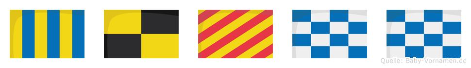 Glynn im Flaggenalphabet