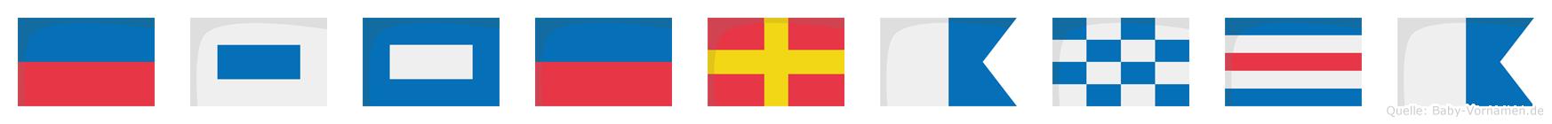 Esperanca im Flaggenalphabet