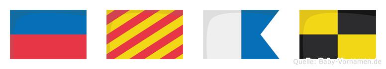 Eyal im Flaggenalphabet