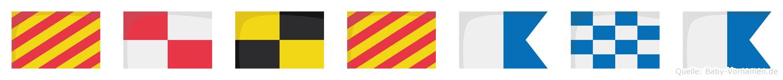 Yulyana im Flaggenalphabet