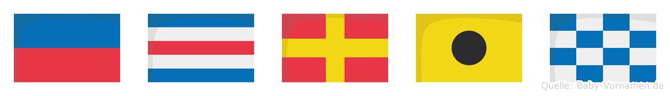 Ecrin im Flaggenalphabet
