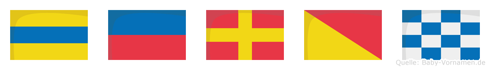 Deron im Flaggenalphabet