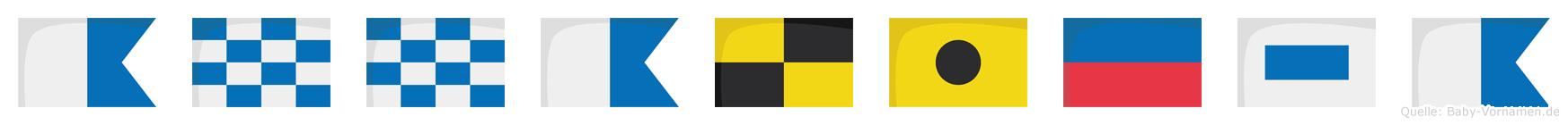 Annaliesa im Flaggenalphabet