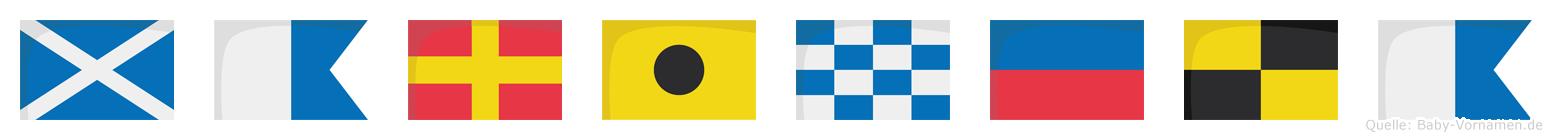 Marinela im Flaggenalphabet
