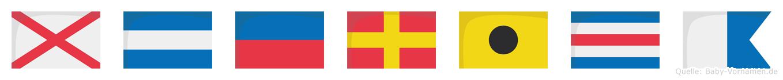 Vjerica im Flaggenalphabet