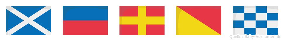 Meron im Flaggenalphabet