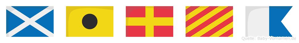 Mirya im Flaggenalphabet