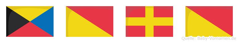 Zoro im Flaggenalphabet