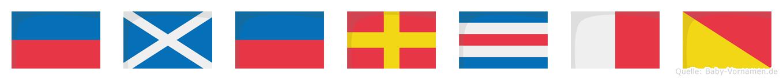 Emercho im Flaggenalphabet