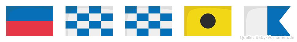 Ennia im Flaggenalphabet