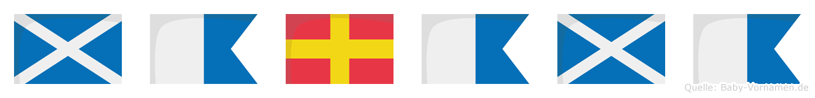 Marama im Flaggenalphabet