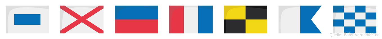 Svetlan im Flaggenalphabet