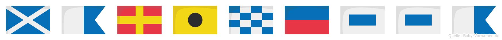 Marinessa im Flaggenalphabet