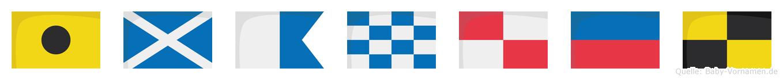 Imanuel im Flaggenalphabet