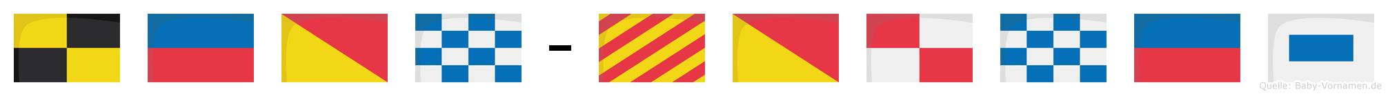 Leon-Younes im Flaggenalphabet