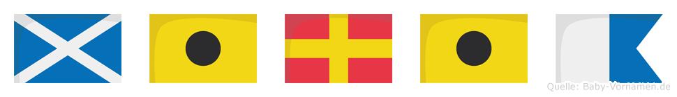 Miria im Flaggenalphabet