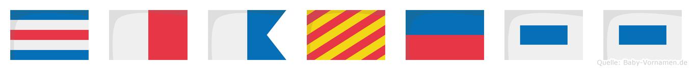 Chayess im Flaggenalphabet