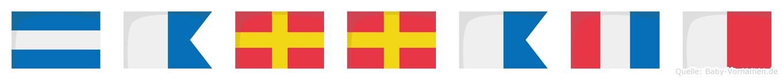 Jarrath im Flaggenalphabet