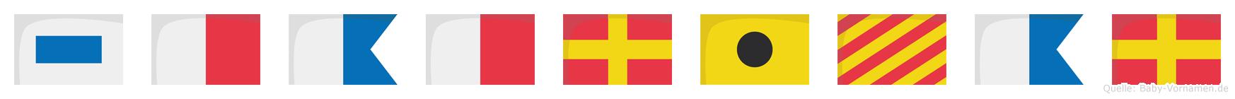 Shahriyar im Flaggenalphabet