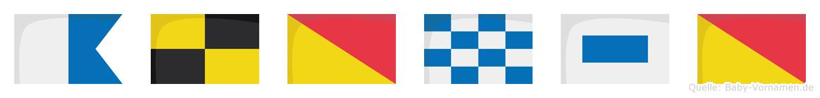 Alonso im Flaggenalphabet