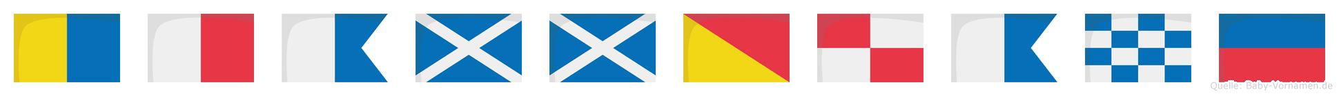 Khammouane im Flaggenalphabet