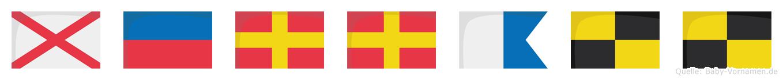 Verrall im Flaggenalphabet