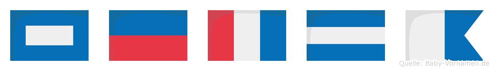 Petja im Flaggenalphabet
