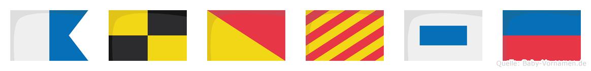 Aloyse im Flaggenalphabet