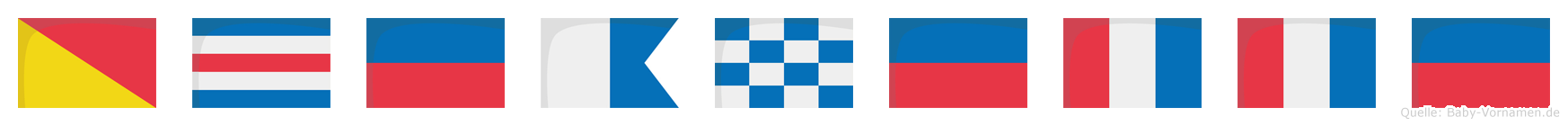 Oceanette im Flaggenalphabet