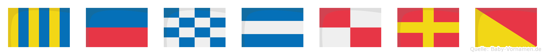 Genjuro im Flaggenalphabet
