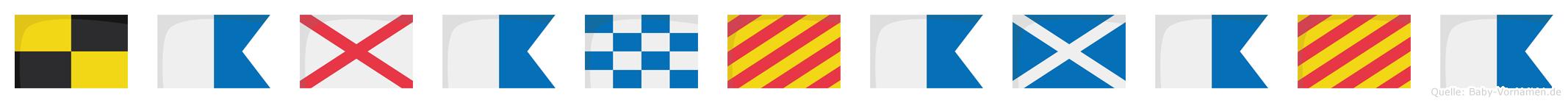 Lavanyamaya im Flaggenalphabet